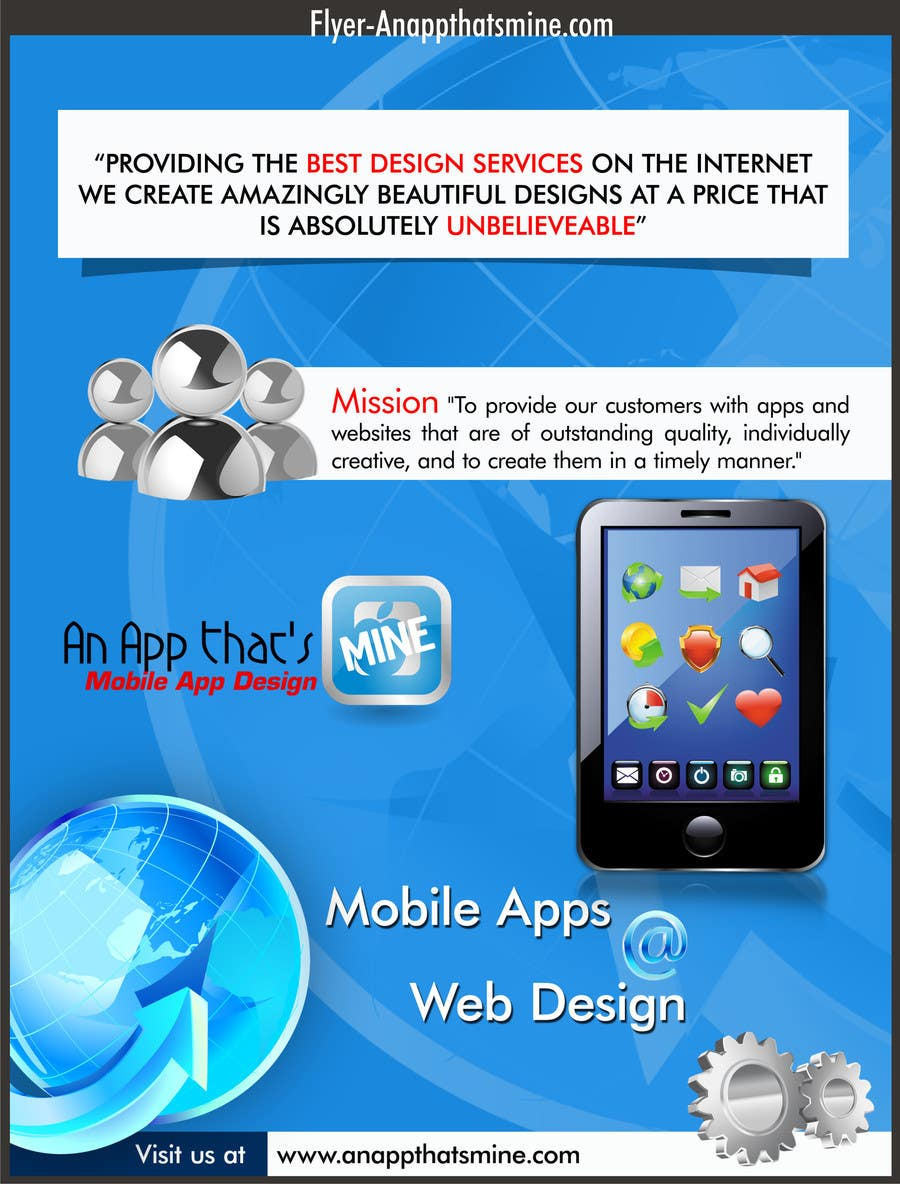 Contest Entry #6 for Design a Flyer for Mobile App and Website Developer