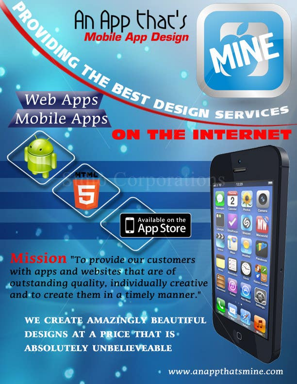 Flyer Design Contest Entry #21 for Design a Flyer for Mobile App and Website Developer