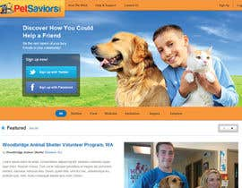 nº 40 pour Design an awesome Website mock-up for PetSaviors par zackaryyu