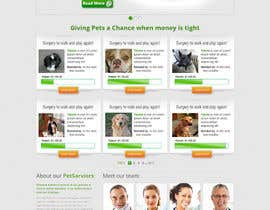 ibrahimnassar tarafından Design an awesome Website mock-up for PetSaviors için no 17