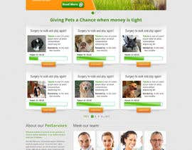 ibrahimnassar tarafından Design an awesome Website mock-up for PetSaviors için no 20