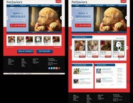 wdcarolina tarafından Design an awesome Website mock-up for PetSaviors için no 16
