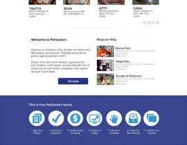 wdcarolina tarafından Design an awesome Website mock-up for PetSaviors için no 35