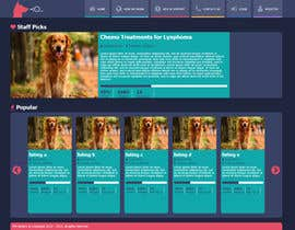 nº 11 pour Design an awesome Website mock-up for PetSaviors par saadimran92