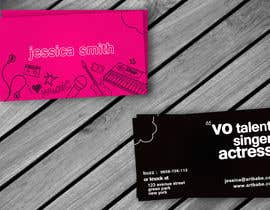 #8 para Design some Business Cards for an Artist who Sing, Dance, Act, Voice Over, Performing Art por amitpadal