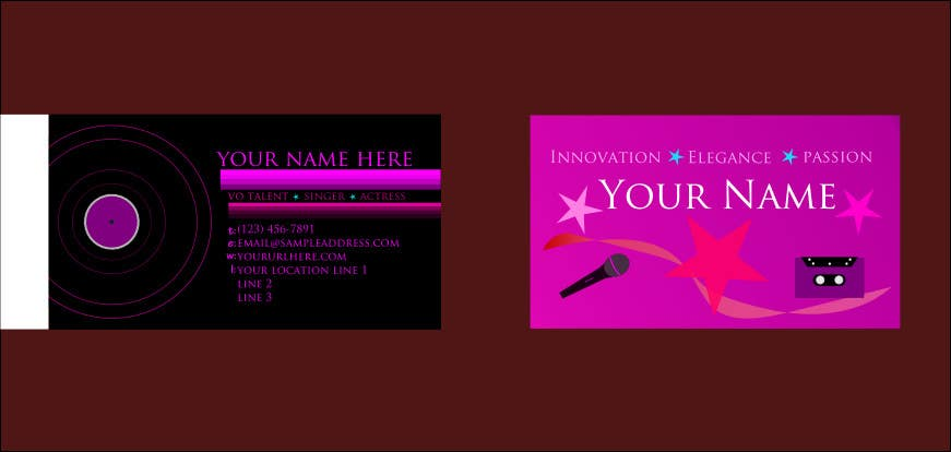 Entry 14 by uwaisasmal27 for design some business cards for an contest entry 14 for design some business cards for an artist who sing dance colourmoves