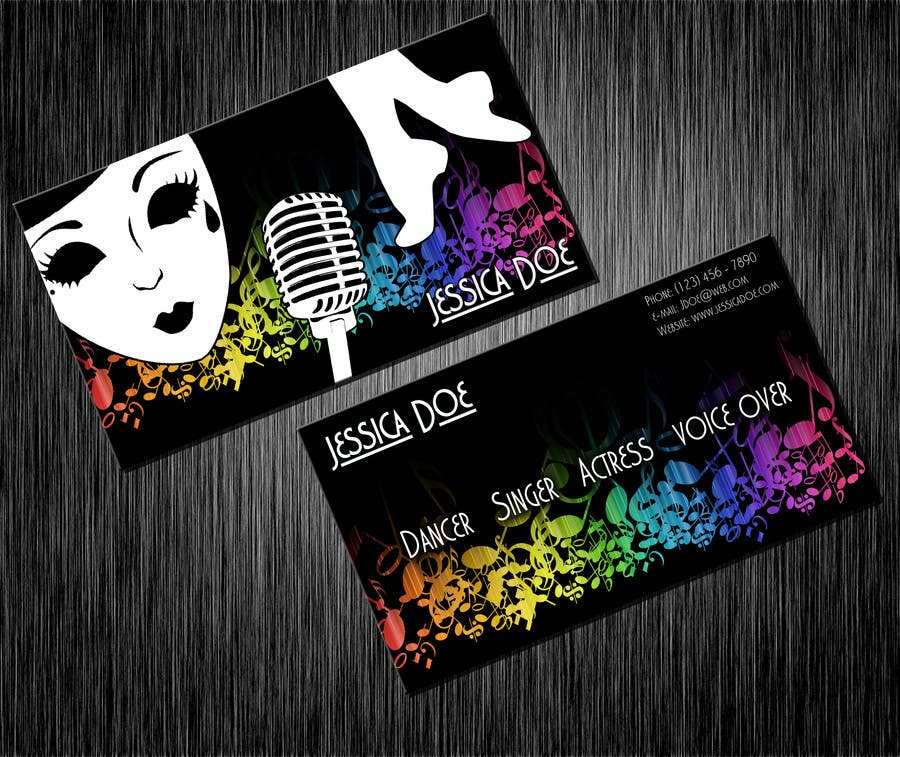 Entry 11 by hollyfisch for design some business cards for an artist contest entry 11 for design some business cards for an artist who sing dance colourmoves