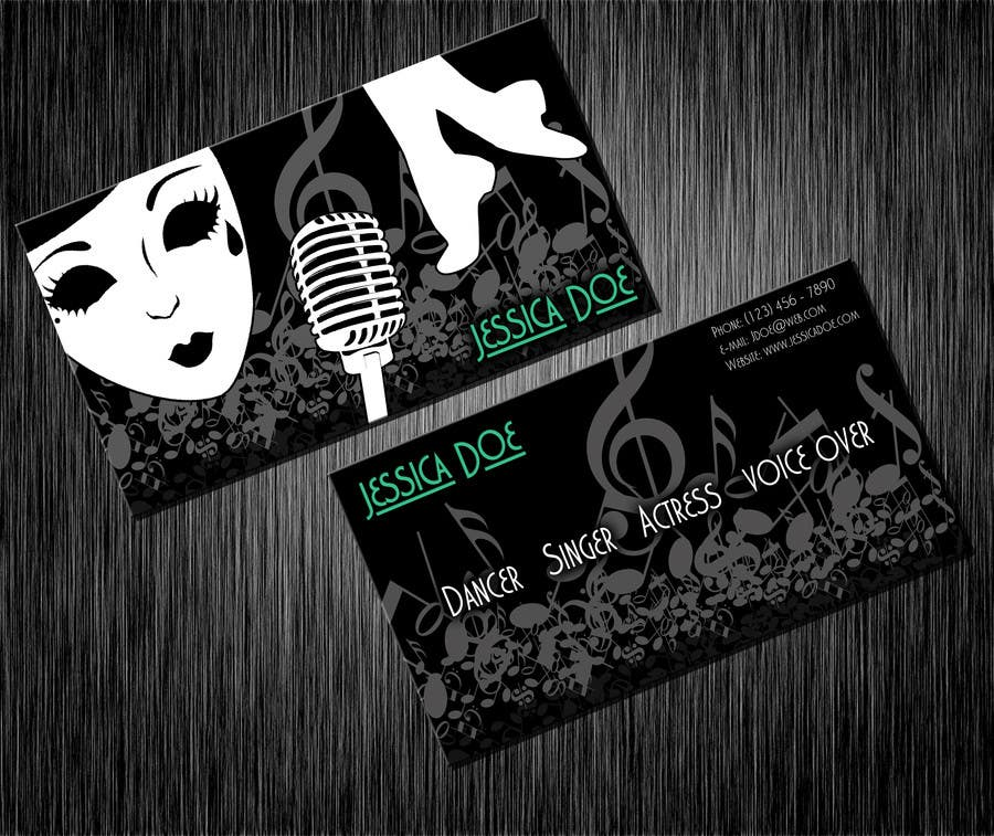 Penyertaan Peraduan #12 untuk Design some Business Cards for an Artist who Sing, Dance, Act, Voice Over, Performing Art