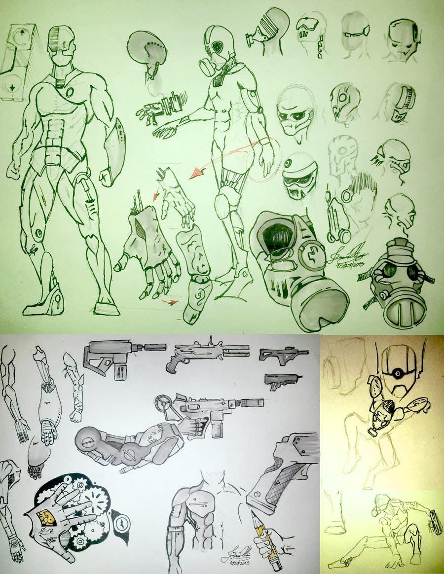Entry 6 By Jexoliveros For Robotics Design Sketch Freelancer