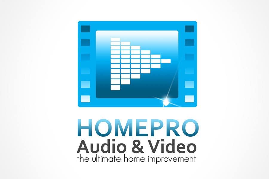 Bài tham dự cuộc thi #                                        347                                      cho                                         Logo Design for HomePro Audio & Video