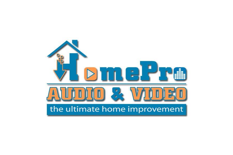 Bài tham dự cuộc thi #                                        312                                      cho                                         Logo Design for HomePro Audio & Video