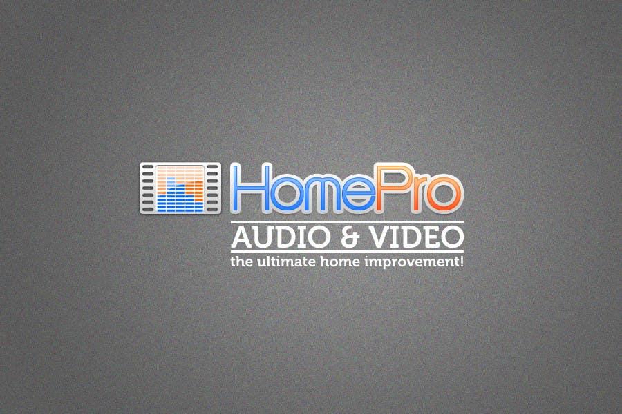 Bài tham dự cuộc thi #                                        249                                      cho                                         Logo Design for HomePro Audio & Video