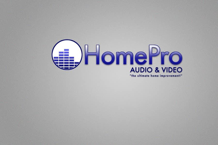 Bài tham dự cuộc thi #                                        123                                      cho                                         Logo Design for HomePro Audio & Video