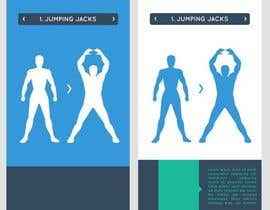 #4 para stickman workout illustration design por kjaducana