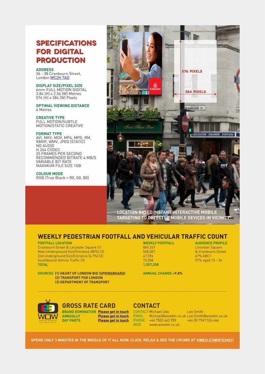 #5 for Design a Brochure for Wow Digital Miracle by barinix