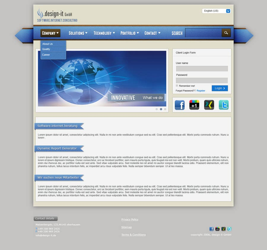 Contest Entry #27 for Website Design for .design-it GmbH - software.internet.consulting