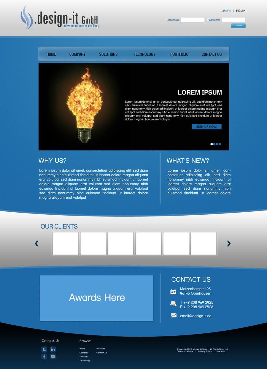 Конкурсная заявка №9 для Website Design for .design-it GmbH - software.internet.consulting