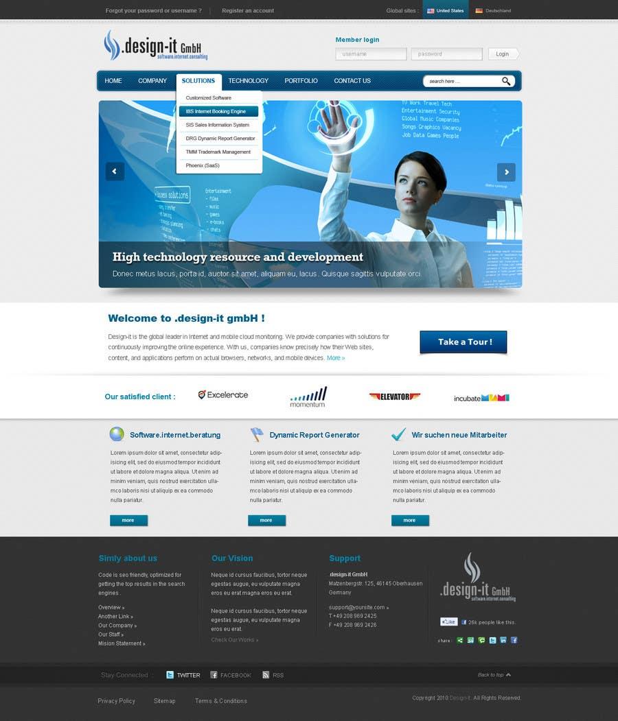 Конкурсная заявка №24 для Website Design for .design-it GmbH - software.internet.consulting