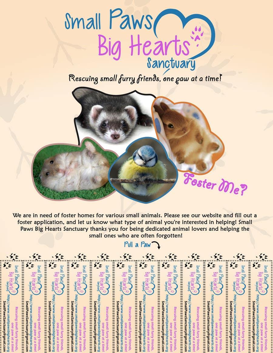 Bài tham dự cuộc thi #                                        18                                      cho                                         Design a Flyer for a small animal rescue