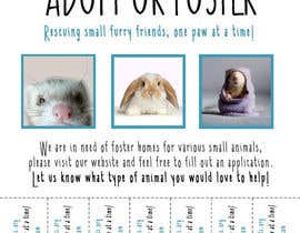 nº 45 pour Design a Flyer for a small animal rescue par amylesko
