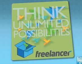 nº 88 pour Help the Freelancer design team design a new die cut sticker par artist78