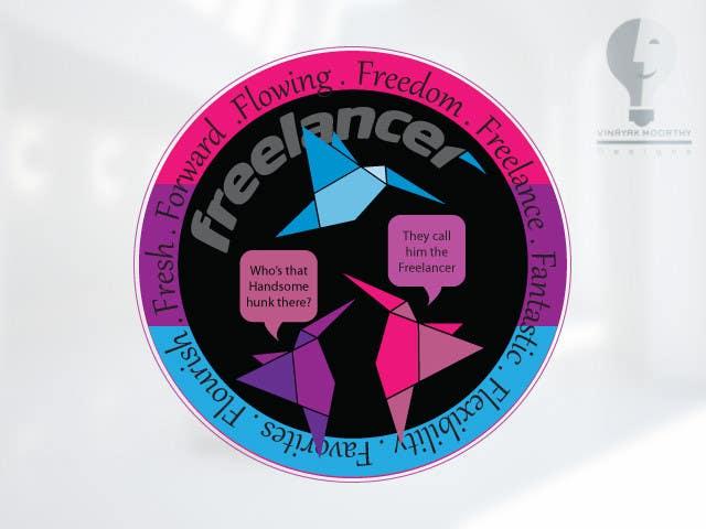 Bài tham dự cuộc thi #                                        39                                      cho                                         Help the Freelancer design team design a new die cut sticker