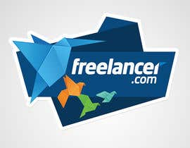Abdulrhman92 tarafından Help the Freelancer design team design a new die cut sticker için no 34