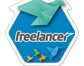 #7 untuk Help the Freelancer design team design a new die cut sticker oleh nevermindstudios