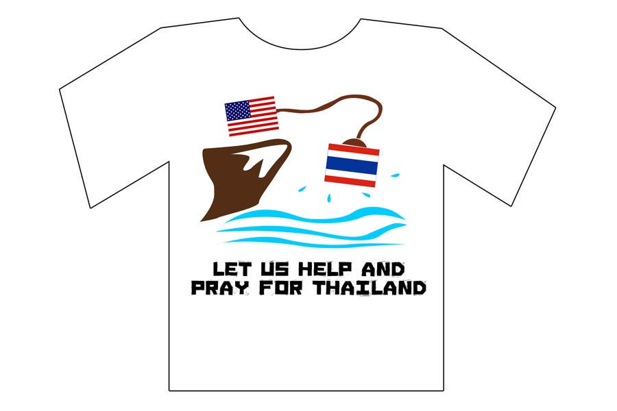 Participación en el concurso Nro.117 para T-Shirt Design for Thai Flood Victims