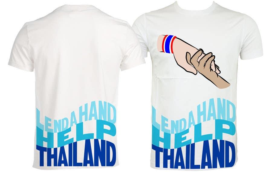 Participación en el concurso Nro.100 para T-Shirt Design for Thai Flood Victims