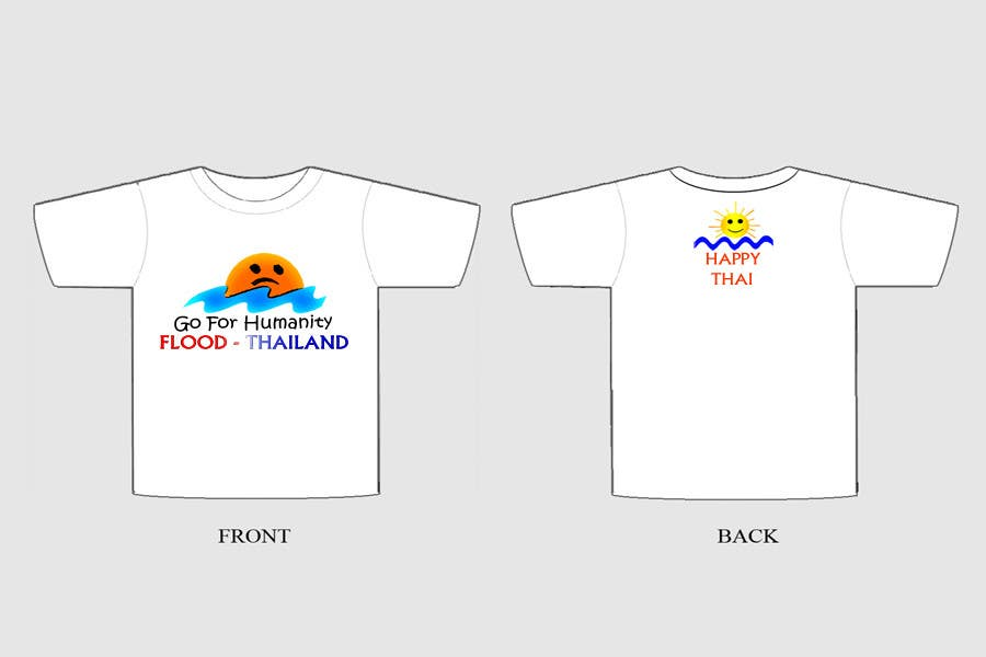 Participación en el concurso Nro.36 para T-Shirt Design for Thai Flood Victims