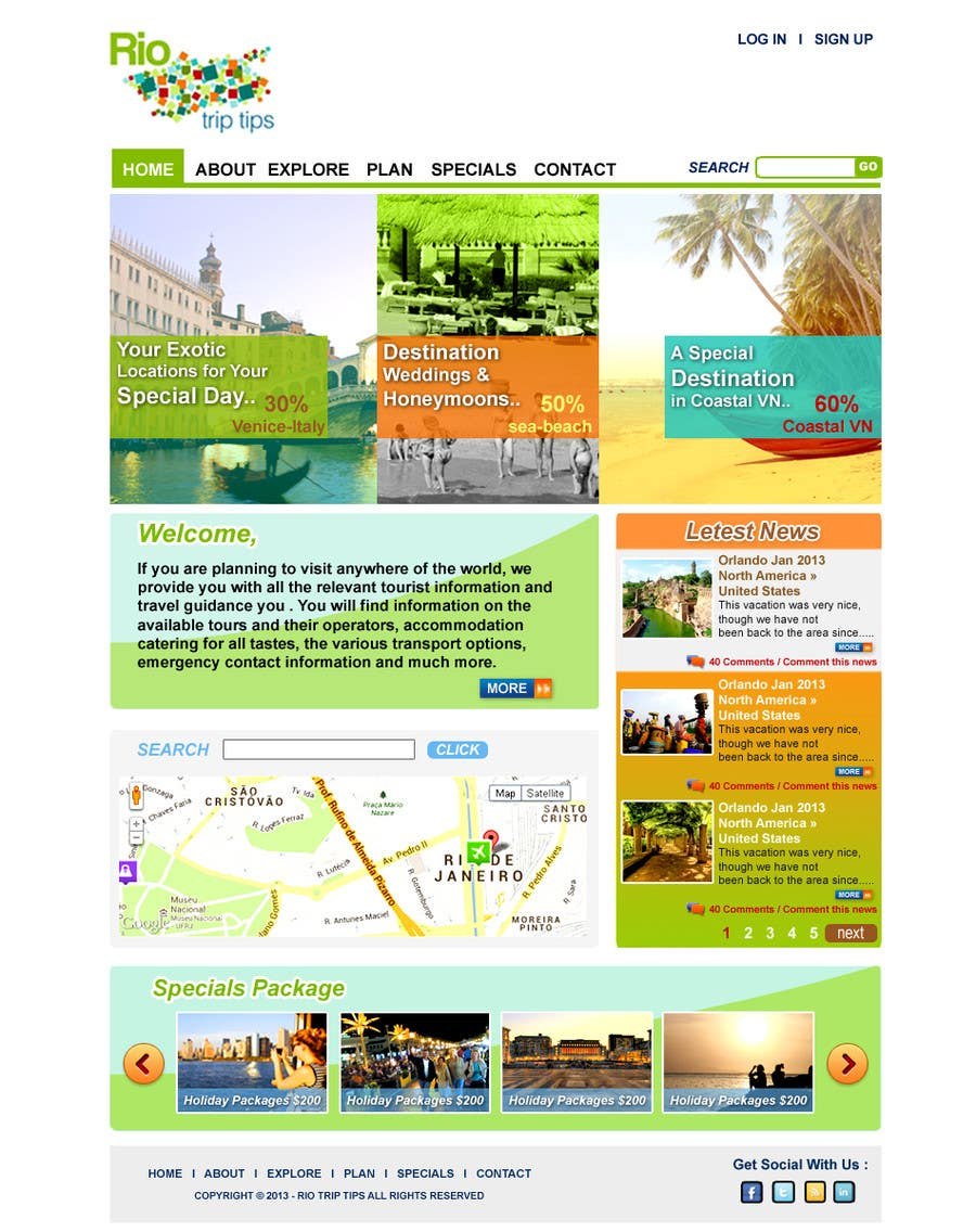 #16 for Create a Website Layout for a Tourism Company by suvra4ever