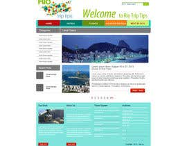 nº 13 pour Create a Website Layout for a Tourism Company par grafixeu