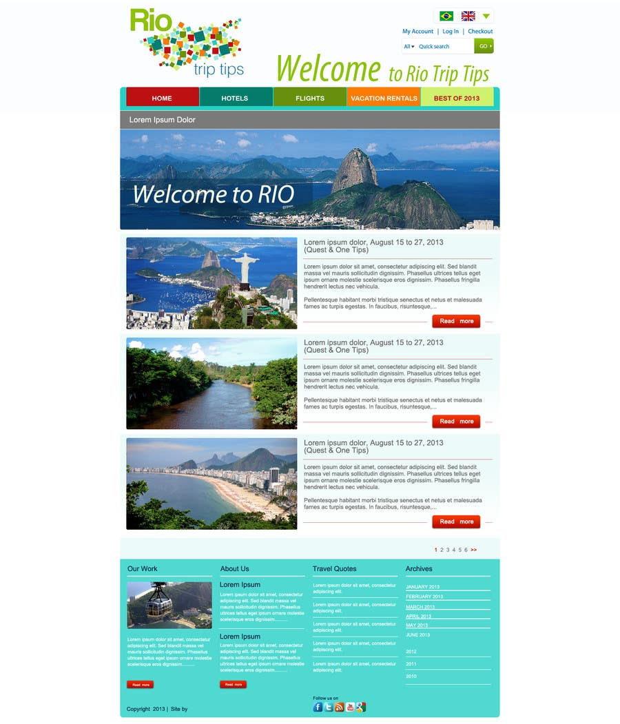 #17 for Create a Website Layout for a Tourism Company by grafixeu