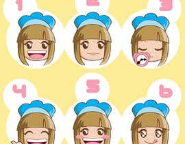 sophialotus tarafından Illustrate 8 cartoon faces (of same character) with different facial expressions için no 7