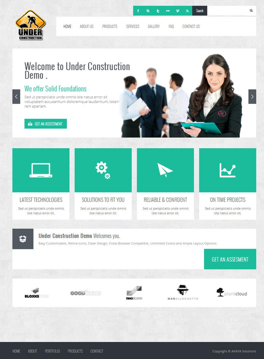 #4 for Build a Website for Construction / Concrete Work by akayasolutions