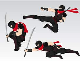 #12 untuk Redesign ninja character and create 3 poses in vector oleh Simonfat