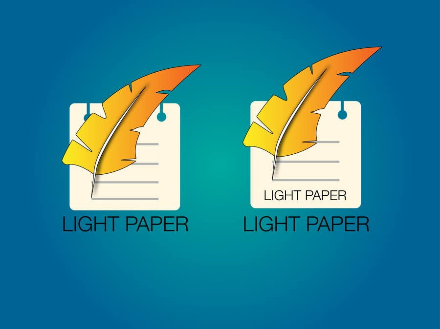 #99 for Design a Logo for LightPaper app by casdesignstudio