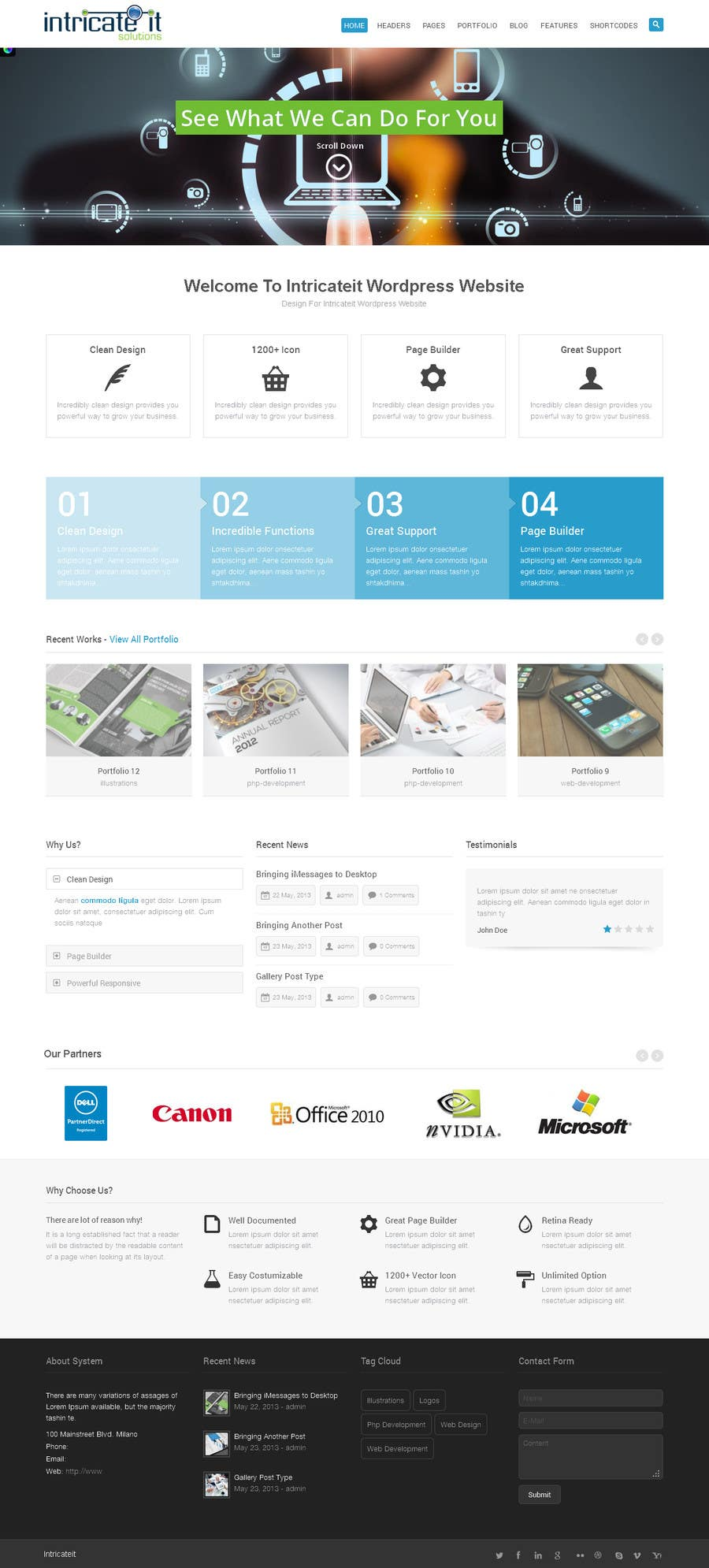 Penyertaan Peraduan #8 untuk Redesign Website for Intricate IT Solutions