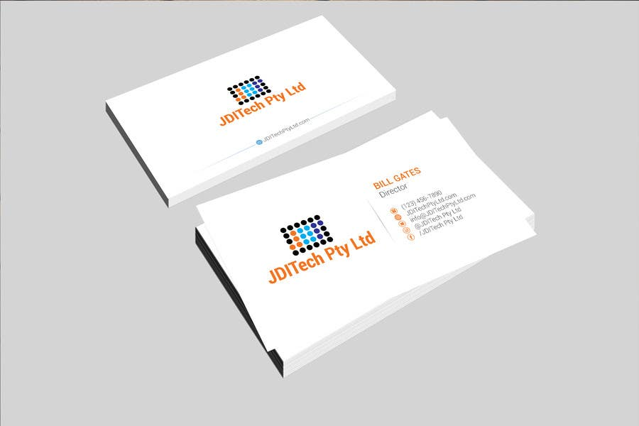 contest entry 2 for design my business card logo tech finance field - Design My Business Card