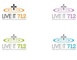 #4 untuk Design a t shirt for Live it 712 Cross oleh commharm