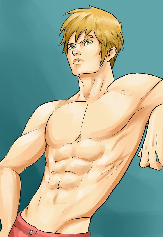entry #34hugoshi for 5 cartoon/manga drawings of sexy guy