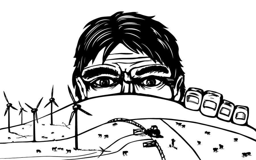 Penyertaan Peraduan #85 untuk Illustrate a giant peaking over a hill