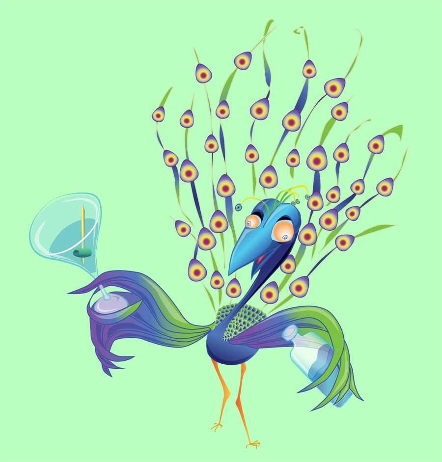 Proposition n°10 du concours Boozy Peacock Mascot Design