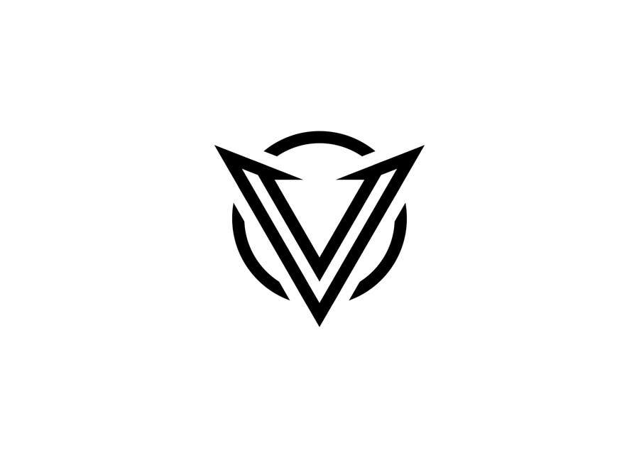 simple one letter v logo design freelancer