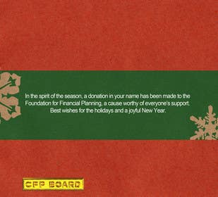 #33 untuk Graphic Design for A new holiday card project for the CFP Board oleh waltdiz