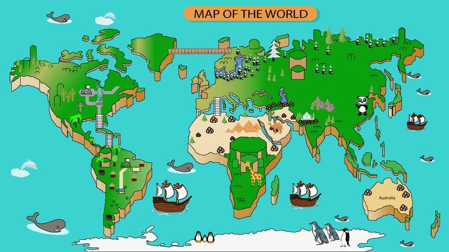 Entry #4 by biddingguru for Anime Type World Map | Freelancer