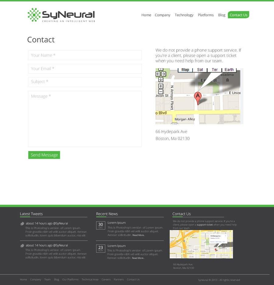 Bài tham dự cuộc thi #                                        15                                      cho                                         Design a Website Mockup for SyN