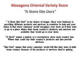 #1 para Write a tag line/slogan and content for a Specialist Philippine Grocery Store por ismaelravina