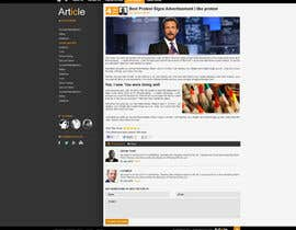 #13 for Redesign Webpage for Articles by ProliSoft